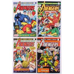 """Lot of (4) 1975 """"The Avengers"""" 1st Series Marvel Comic Books with #133, #134, #135  #136"""
