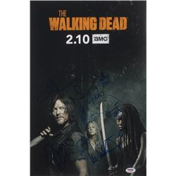 """""""The Walking Dead"""" 12x18 Photo Cast-Signed by (8) with Norman Reedus, Jeffrey Dean Morgan, Ryan Hurs"""