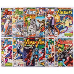 """Lot of (12) 1979-80 """"The Avengers"""" 1st Series Marvel Comic Books with #184-195"""