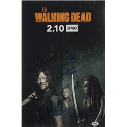 """""""The Walking Dead"""" 12x18 Photo Cast-Signed by (7) with Norman Reedus, Jeffrey Dean Morgan, Cailey Fl"""