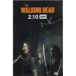 """""""The Walking Dead"""" 12x18 Photo Cast-Signed by (7) with Norman Reedus, Ryan Hurst, Cailey Flemming In"""