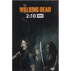 """""""The Walking Dead"""" 12x18 Photo Cast-Signed by (7) with Ryan Hurst, Melissa McBride, Cailey Fleming,"""