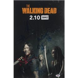 """""""The Walking Dead"""" 12x18 Photo Cast-Signed by (9) with Norman Reedus, Jeffrey Dea Morgan, Ryan Hurst"""