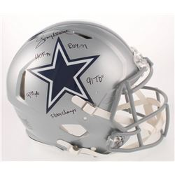 Tony Dorsett Signed Dallas Cowboys Full-Size Authentic On-Field Speed Helmet with Multiple Career St