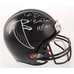 "Deion Sanders Signed Atlanta Falcons Throwback Full-Size Authentic On-Field Helmet Inscribed ""Prime"