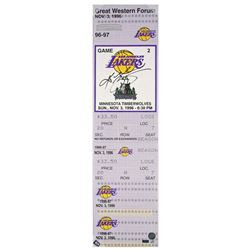 "Kobe Bryant Signed Los Angeles Lakers ""1st Game"" 9x33 LE Oversized Ticket on Canvas (Panini COA)"
