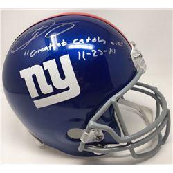 """Odell Beckham Jr Signed New York Giants Full-Size Helmet Inscribed """"Greatest Catch Ever""""  """" 11-23-14"""