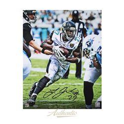 "Leonard Fournette Signed Jacksonville Jaguars ""Vision"" 16x20 LE Photo (Panini COA)"
