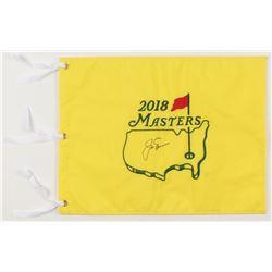 Jack Nicklaus Signed 2018 Masters Golf Pin Flag (JSA ALOA)