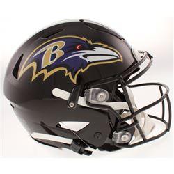 "Ray Lewis Signed Baltimore Ravens Full-Size Authentic On-Field SpeedFlex Helmet Inscribed ""HOF 18"""