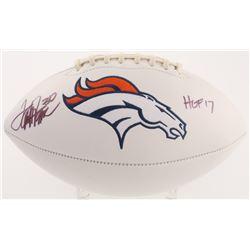 "Terrell Davis Signed Denver Broncos Logo Football Inscribed ""HOF 17"" (Radtke COA)"