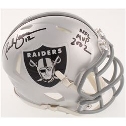 "Rich Gannon Signed Oakland Raiders Speed Mini-Helmet Inscribed ""NFL MVP 2002"" (Radtke COA)"