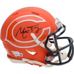 Mitchell Trubisky Signed Chicago Bears AMP Mini Speed Helmet (Fanatics Hologram)