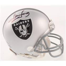 Howie Long Signed Oakland Raiders Mini Helmet (Beckett COA)