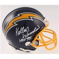 """Kellen Winslow Signed San Diego Chargers Mini Helmet Inscribed """"HOF 95"""" (Beckett COA)"""