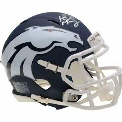 Peyton Manning Signed Denver Broncos AMP Speed Mini Helmet (Fanatics Hologram)