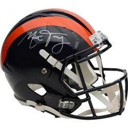 Mitch Trubisky Signed Chicago Bears Throwback Full-Size Speed Helmet (Fanatics Hologram)