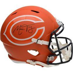 Mitchell Trubisky Signed Chicago Bears AMP Full-Size Speed Helmet (Fanatics Hologram)
