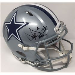 """Dak Prescott Signed Dallas Cowboys LE Full-Size Authentic On-Field Speed Helmet Inscribed """"ROTY 16"""""""