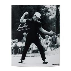 """Gary Player Signed """"Fist Pump"""" 16x20 LE Photo Inscribed """"1965 US Open"""" (UDA COA)"""