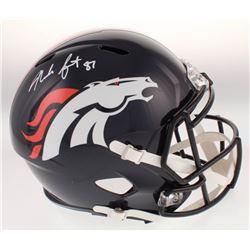 Noah Fant Signed Denver Broncos Full-Size Speed Helmet (Beckett COA)
