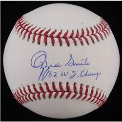 "Ozzie Smith Signed OML Baseball Inscribed ""82 WS Champs"" (JSA COA)"