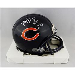 """Brian Urlacher Signed Chicago Bears Mini-Helmet Inscribed """"HOF 2018"""" (Beckett COA)"""