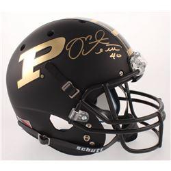 Mike Alstott Signed Purdue Boilermakers Full-Size Matte Black Helmet (Radtke COA)