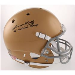 """Lou Holtz Signed Notre Dame Fighting Irish Full-Size Helmet Inscribed """"'88' National Champs"""" (Fanati"""