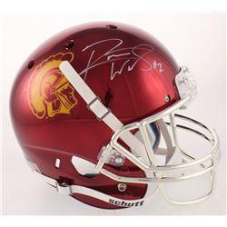Robert Woods Signed USC Trojans Full-Size Chrome Helmet (Radtke COA)