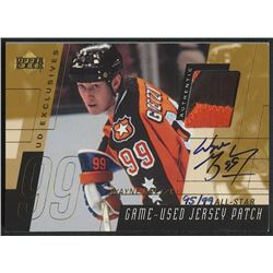 2000-01 Upper Deck Game Jersey Patch Autographs Exclusives #PSWG Wayne Gretzky All-Star #95/99