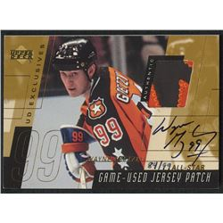 2000-01 Upper Deck Game Jersey Patch Autographs Exclusives #PSWG Wayne Gretzky All-Star #84/99