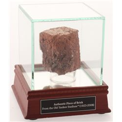 Authentic Old Yankee Stadium Brick with Display Case (Steiner COA)