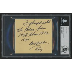 Ray Nitschke Signed Cut with Extensive Inscription (BAS Encapsulated)