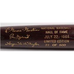 Goose Goslin, Kiki Cuyler  Joe Medwick LE Custom Engraved Louisville Slugger Powerized Hall of Fame