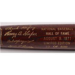LE Custom Engraved Louisville Slugger Powerized Hall of Fame Logo Baseball Bat with Dave Bancroft, J