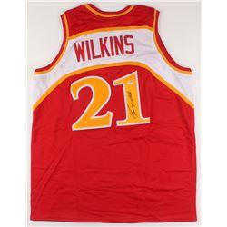 Dominique Wilkins Signed Jersey (PSA COA)