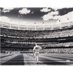 "Mariano Rivera Signed New York Yankees 16x20 Photo Inscribed ""652 Saves"" (PSA COA)"