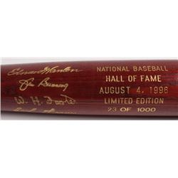 LE Custom Engraved Louisville Slugger Powerized Hall of Fame Logo Baseball Bat with Jim Bunning, Bil