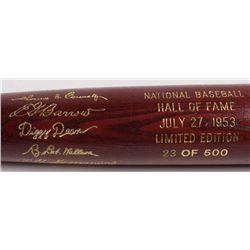 LE Custom Engraved Louisville Slugger Powerized Hall of Fame Logo Baseball Bat with Ed Barrow, Chief