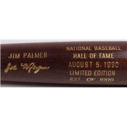 Joe Morgan  Jim Palmer LE Custom Engraved Louisville Slugger Powerized Hall of Fame Logo Baseball Ba