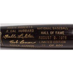 LE Custom Engraved Louisville Slugger Powerized Hall of Fame Logo Baseball Bat with Bob Lemon, Robin