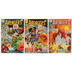 """Lot of (3) 1971 """"The Avengers"""" 1st Series Marvel Comic Books with #85, #86  #88"""