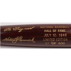 Herb Pennock  Pie Traynor LE Custom Engraved Louisville Slugger Powerized Hall of Fame Logo Baseball
