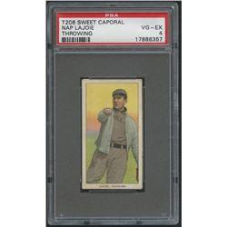 1909-11 T206 #270 Nap Lajoie / Throwing - Sweet Caporal (PSA 4)