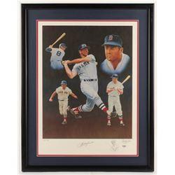 Carl Yastrzemski Signed LE Boston Red Sox 23.5x30 Custom Framed Lithograph Display (PSA COA)