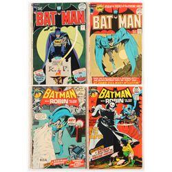 "Lot of (4) 1971-72 ""Batman"" DC Comic Books with #237, #240, #241  #242"