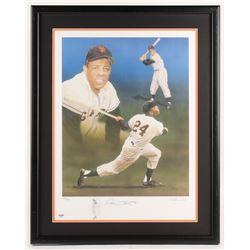 Willie Mays Signed LE San Francisco Giants 23.5x30 Custom Framed Lithograph Display (PSA Hologram)