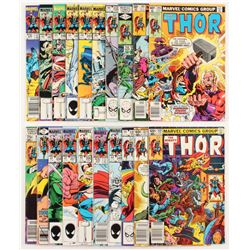 """Lot of (20) 1983-96 """"The Mighty Thor"""" #286-#358 Marvel Comic Books"""