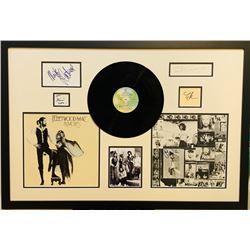 "Fleetwood Mac ""Rumors"" 26.5x38 Custom Framed Cut Display Signed by (5) with Stevie Nicks, Lindsey Bu"